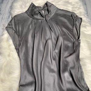 Development by Erica Davies 100%Silk Grey Blouse